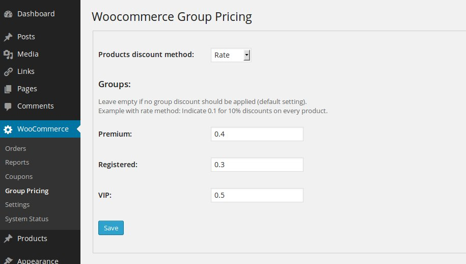 Woocommerce Group Pricing - 1